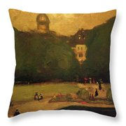 Au Jardin Du Luxembourg 1899 Throw Pillow