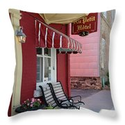 Au Petit Hotel Quebec City  6525 Throw Pillow