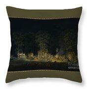 Au Petit Trianon Throw Pillow