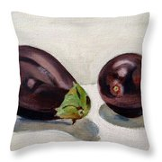 Aubergines Throw Pillow