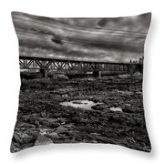 Auburn Lewiston Railway Bridge Throw Pillow