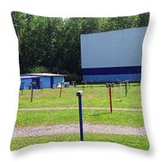 Auburn Ny - Drive-in Theater 3 Throw Pillow