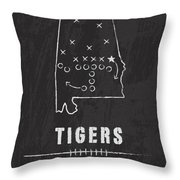 Auburn Tigers / Ncaa College Football Art / Alabama Throw Pillow by Damon Gray