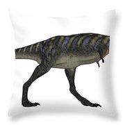 Aucasaurus Dinosaur Isolated On White Throw Pillow
