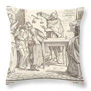 Auch Ein Todtentanz IIi Throw Pillow