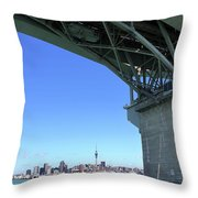 Auckland Harbour And Bridge Throw Pillow