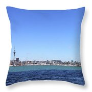 Auckland Harbour Throw Pillow