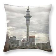 Auckland New Zealand Sky Tower Textured Throw Pillow