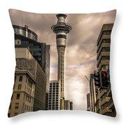 Auckland Sky Tower Throw Pillow