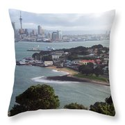 New Zealand - Picturesque Devonport Beach Throw Pillow