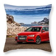 Audi A4 Throw Pillow