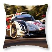 Audi R18 E-tron, Le Mans - 19 Throw Pillow