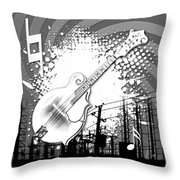Audio Graphics 4 Throw Pillow