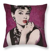 Audrey Hepburn - Breakfast Throw Pillow