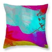 Audrey Hepburn Throw Pillow by Naxart Studio