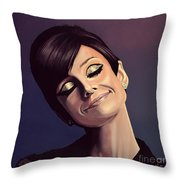 Audrey Hepburn Painting Throw Pillow