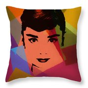 Audrey Hepburn Pop Art 1 Throw Pillow
