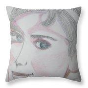 Audrey Hepburn Series 5c Throw Pillow