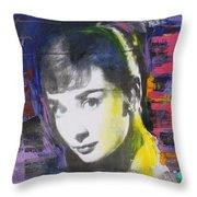 Audrey Hepburn Throw Pillow