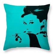 Audrey Light Blue Throw Pillow