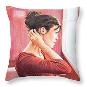 Audrey Tautou Throw Pillow
