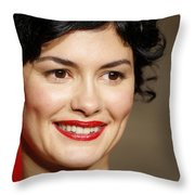 Audrey Tautou Throw Pillow