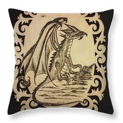 Audrey's Dragon Throw Pillow by Ginny Youngblood