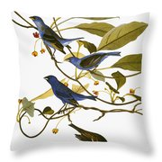 Audubon: Bunting, 1827-38 Throw Pillow