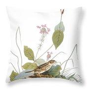 Audubon: Bunting Throw Pillow