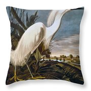 Audubon: Egret Throw Pillow