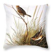 Audubon: Finch Throw Pillow