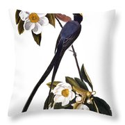 Audubon Flycatcher, 1827 Throw Pillow