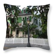 Audubon House Key West Throw Pillow