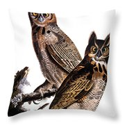 Audubon: Owl, (1827-1838) Throw Pillow
