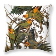 Audubon: Parakeet Throw Pillow