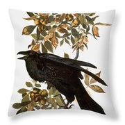 Audubon: Raven Throw Pillow