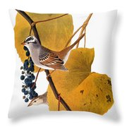 Audubon: Sparrow Throw Pillow