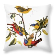 Audubon: Sparrows Throw Pillow