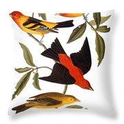 Audubon: Tanager, 1827 Throw Pillow