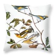 Audubon: Warbler, (1827-1838) Throw Pillow