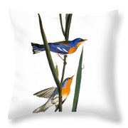 Audubon: Warbler, 1827 Throw Pillow