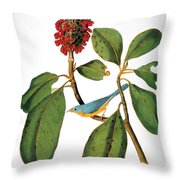 Audubon: Warbler Throw Pillow