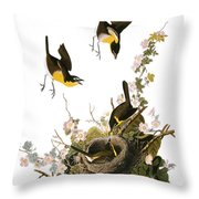 Audubon: Yellow Chat, (1827-38) Throw Pillow