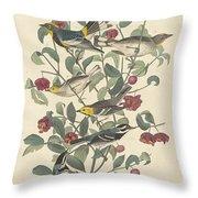 Audubon's Warbler Throw Pillow