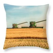 Augers Out Throw Pillow