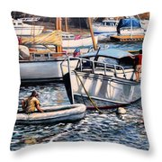 August Afternoon Rocky Neck Throw Pillow