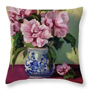 August Blossoms Throw Pillow