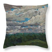 August Convection Throw Pillow