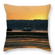 August Dawn At Esopus Light II Throw Pillow