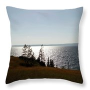 August Evening At Yellowstone Lake Throw Pillow